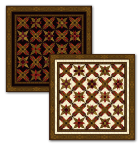 Starstruck quilt, dark and light backgrounds