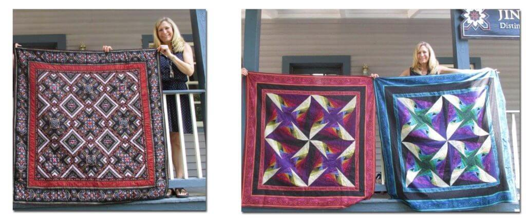 Wonderful One Fabric Quilt and Coventry, both Jinny Beyer Designs