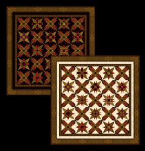 Starstruck quilt, dark and light backgrounds