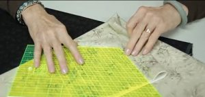 The ruler works well on any color fabric, light or dark.