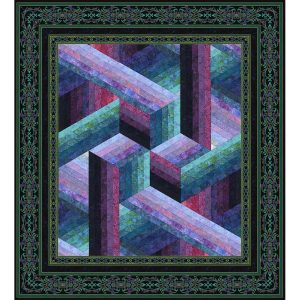 Catwalk Quilt - Wall/Plum