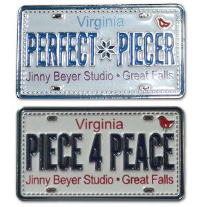 Row by Row License Plate Pins
