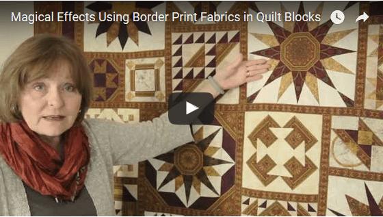 Working With Border Print Fabrics Jinny Beyer Studio