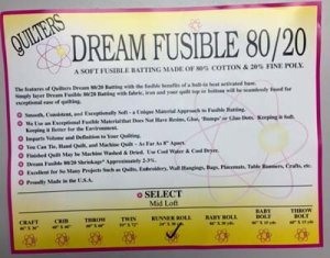 Dream Fusible 80/20 Select by the Yard